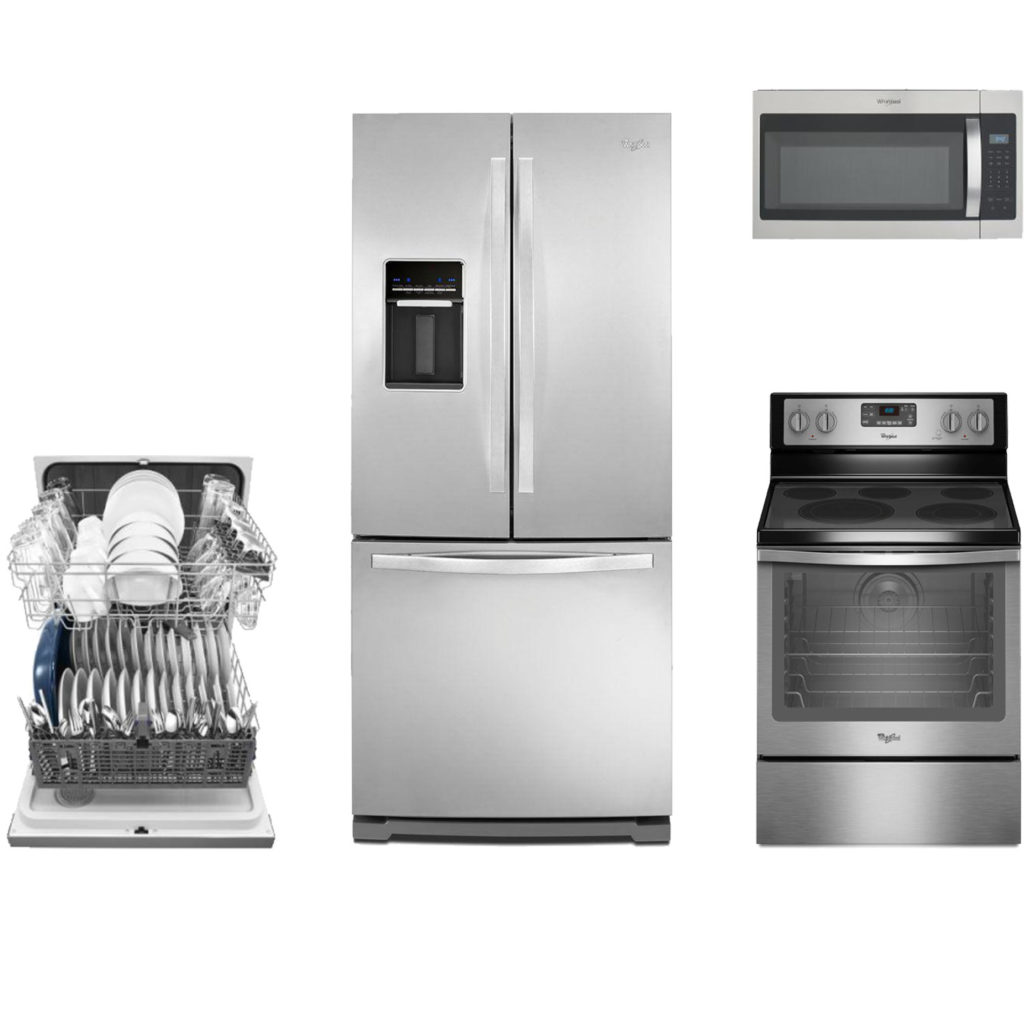 Oven Kitchen Set: Whirlpool 4 Piece Kitchen Set